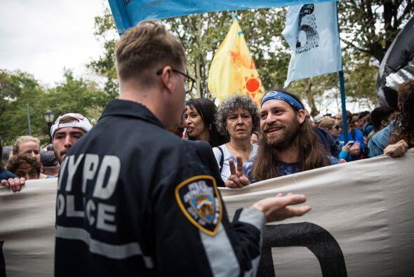 Aunque se presentaron algunos arrestos, en general la protesta se realiz...
