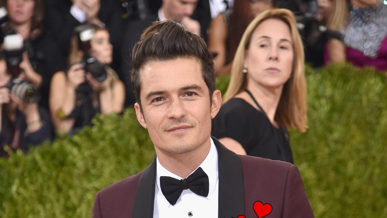 Orlando Bloom en la alfombra roja del Met Gala.