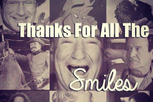 Muchos fans de Robin Willliams le estan dando las gracias por todos sus...
