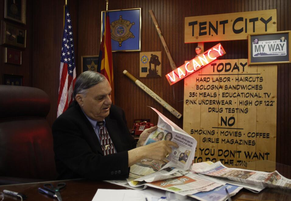 "EXCLUSIVE: Sheriff Joe Arpaio says he'll ""never"" apologize to Latinos Ge..."