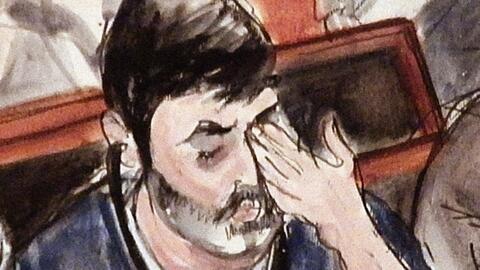 Efraín Antonio Campo Flores lloraba mucho al comienzo de las audiencias.