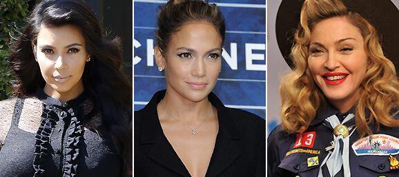Kim Kardashian, J.Lo y Madonna están en la lista de los Famosos m...