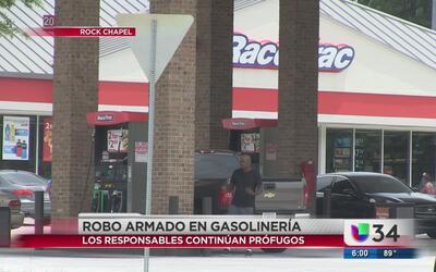 Robo armado en gasolinería