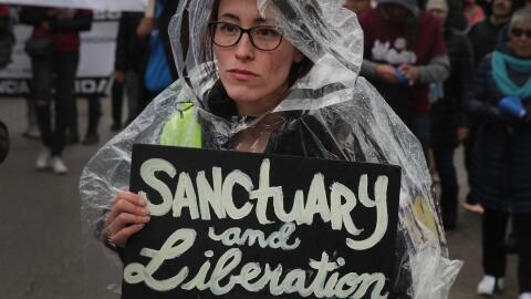 Una marcha proinmigrante en Chicago, Illinois.