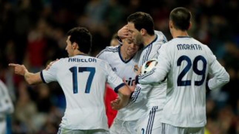 Higuaín celebra su segundo gol ante Mallorca.