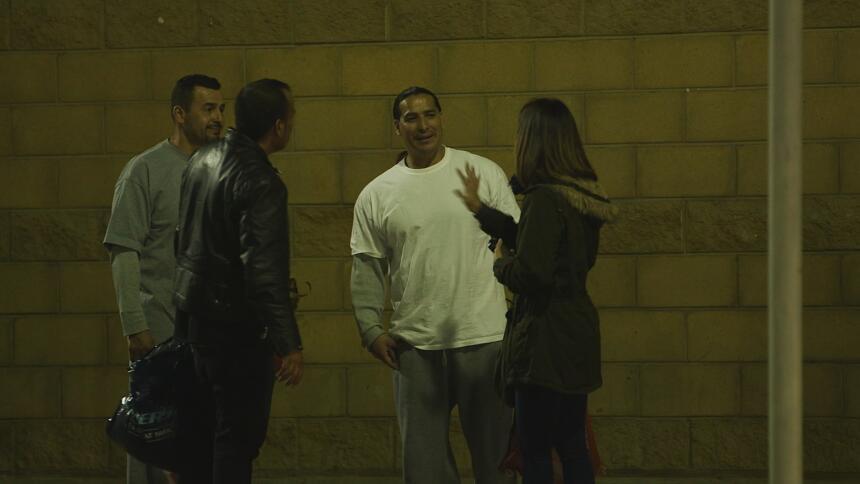 Andrea Sambucetti conversó con algunos de los recién llegados a México....