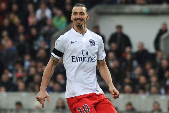 El sueco Zlatan Ibrahimovic, del PSG, ganó en 2014 21.5 millones de euros.