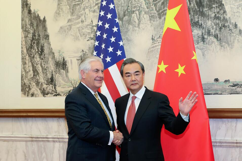 Tillerson y Wang Yi