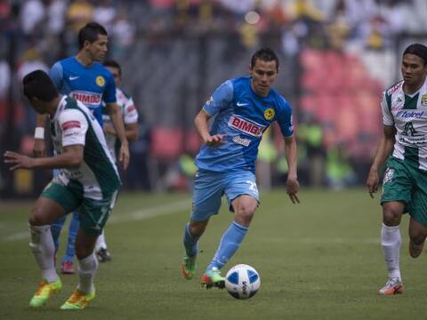 Las Águilas recibieron en el Azteca al Campeón León...