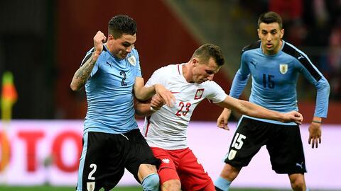 Polonia empató sin goles con Uruguay.