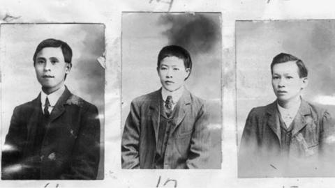 Inmigrantes chinos posando como mexicanos en imágenes de 1907.