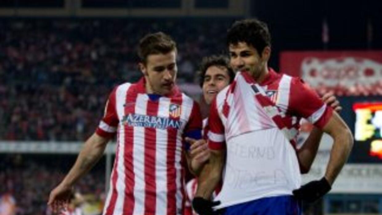 Diego Costa celebra el gol contra Espnayol.