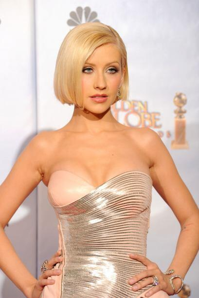 La primera rubia de la lista es Cristina Aguilera.
