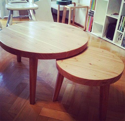 """Una mesa ratona rústica. """"Combinan perfecto con muebles o detalles mas r..."""