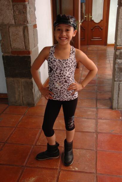 La pequeña ha demostrado tener muchísimo talento para bailar.