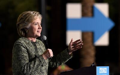 Hillary Clinton, en un evento en Las Vegas en octubre de 2016.