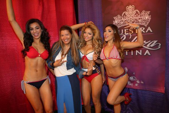 La diseñadora Claudia Zuleta estuvo con las chicas para asegurarse que t...
