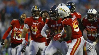 La AFC remonta 17 puntos de desventaja para vencer a la NFC en el Pro Bowl