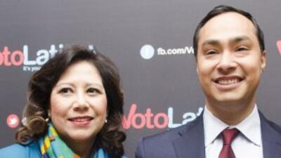 Julián Castro e Hilda Solís