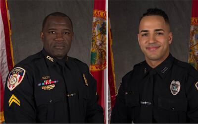 En menos de 24 horas, seis policías fueron baleados en dos incidentes se...