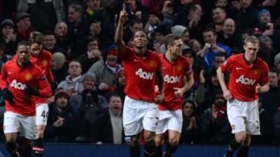 Antonio Valencia sacó al Manchester United del atolladero.