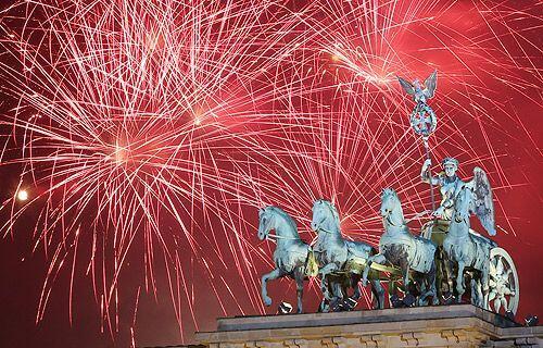 Año Nuevo en Berlín, Alemania.