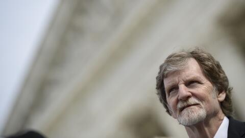 El pastelero Jack Phillips ante la Corte Suprema donde se escuchaba su c...