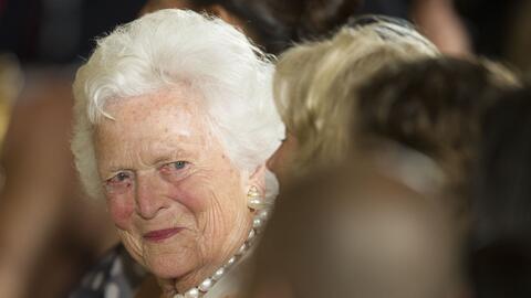 Barbara Bush falleció este martes a los 92 años. El pasado domingo un vo...
