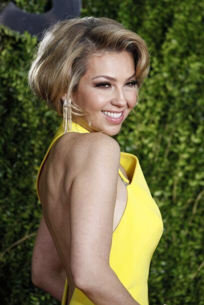 Thalía llegó pisando fuerte y poniendo el toque latino a la gala de los...