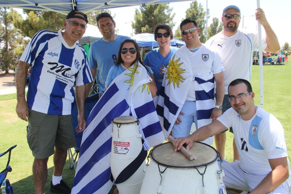 Fans uruguayos dicen presente en Copa América Centenario en Phoenix
