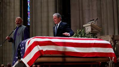 Image result for El lugar de Texas donde empezó su carrera política George H. W. Bush ahora lo despide