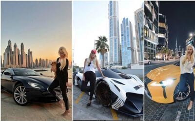 los superautos que ha manejado la youtuber de Dubai