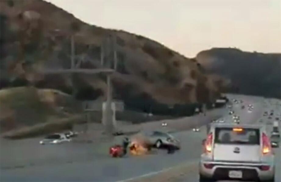 Accidente en Santa Clarita, California
