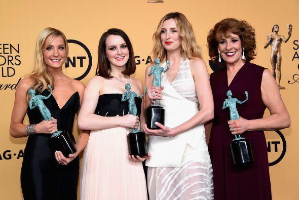 'Downton Abbey' triunfó como Mejor elenco en TV - drama. Aquí parte del...