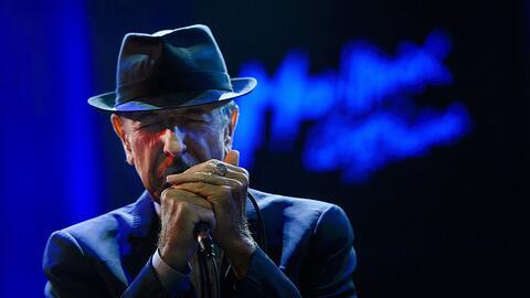 Leonard Cohen durante la ceremonia del Premio Príncipe de Asturias en 2011.