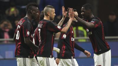Milan, primer finalista de la Coppa Italia