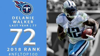 #72 Delanie Walker (TE, Titans) | Top 100 Jugadores NFL 2018