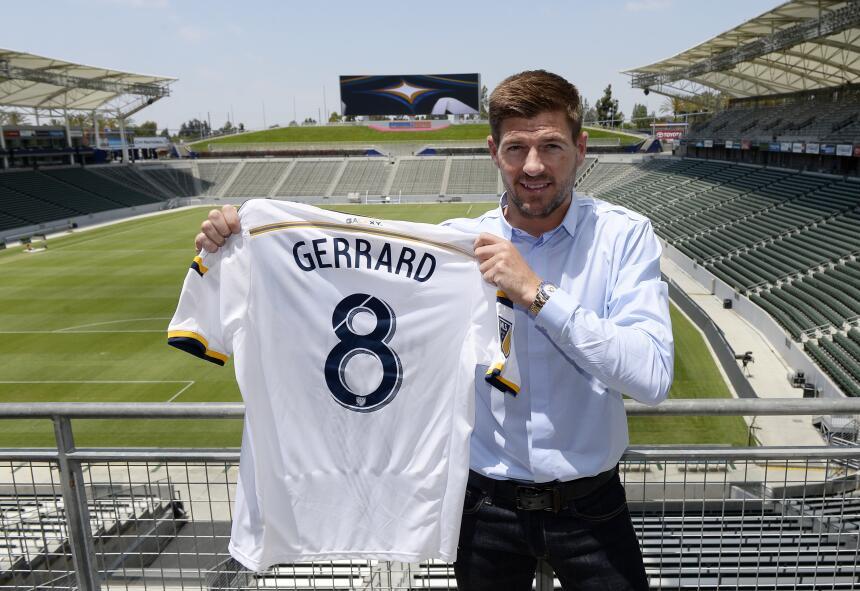Steven Gerrard se estrenará con los Galaxy el próximo sábado