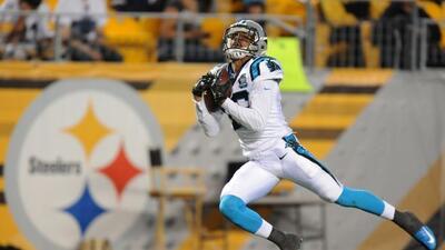 El receptor abierto de los Panthers,Kelvin Benjaminlogró 4 recepciones...