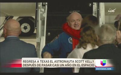 Ya está en casa, sano y salvo, el astronauta Scott Kelly