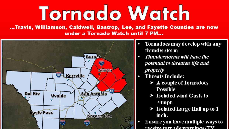 Alerta de tornado en SA