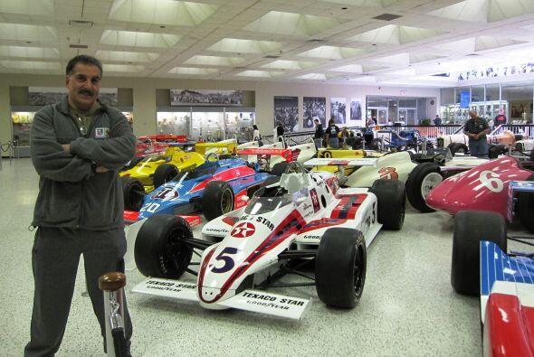 Parte de la colección del museo (todos autos ganadores de las 500...