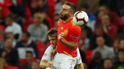 En fotos: los momentos de angustia por la lesión de Luke Shaw en la UEFA Nations League