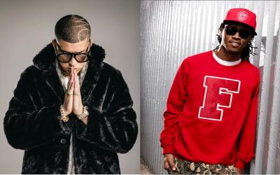 (Left to right:) Latin Trap artist Bad Bunny and rapper Future. The two...