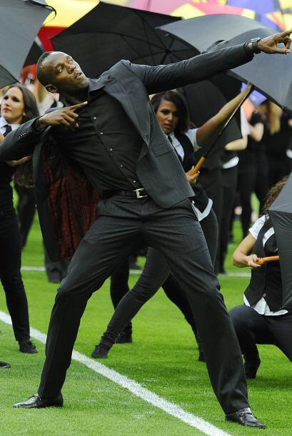 ¿Qué, Usain Bolt no podía tomar parte en la fiesta de la 'Champions'? No...
