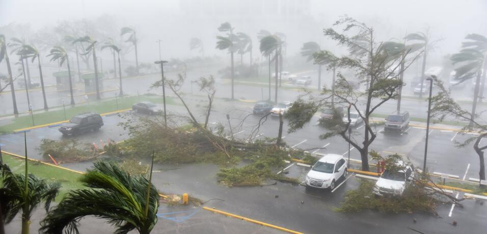 El huracán María impactó de frente a Puerto Rico.
