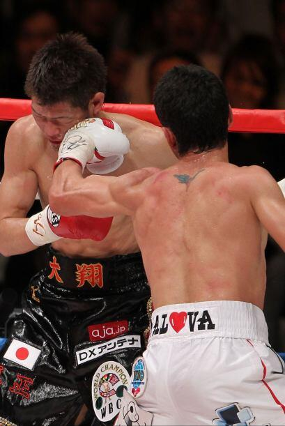El cuarto round fue el definitivo para Montiel, tomó las acciones...