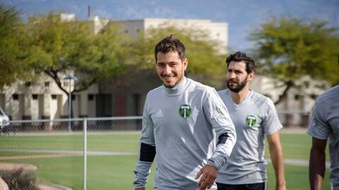Blanco se reencuentra en Portland con Diego Valeri, su excompañero en Lanús