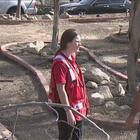 Cruz Roja Americana recorre las zonas más afectadas por el incendio Creek en California