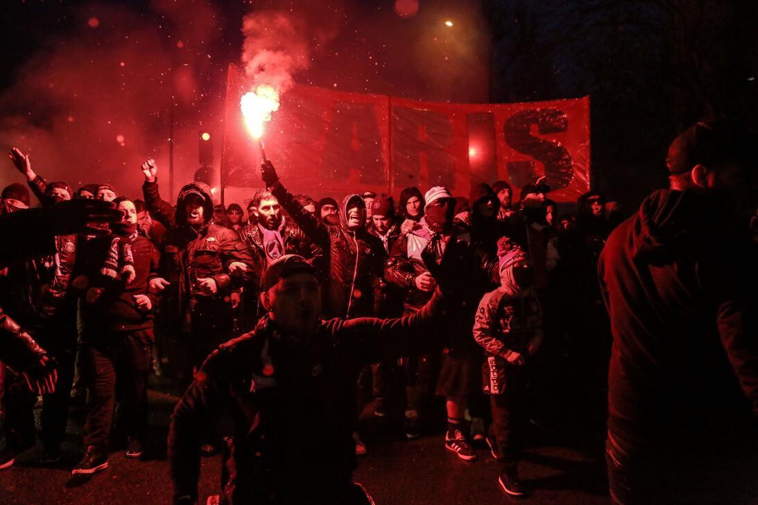 Los aficionados del Paris Saint-Germain –los más hostiles– y del Real Ma...